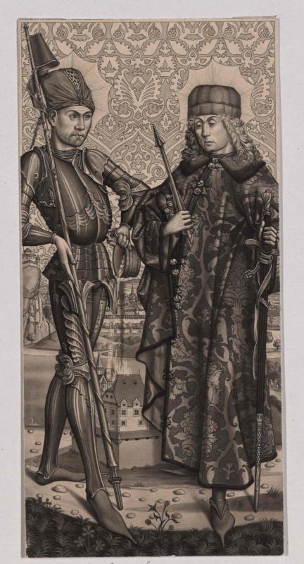 Kaiser Friedrich III. und St. Florian auf dem Altarbild der Spitalskirche in Obdach