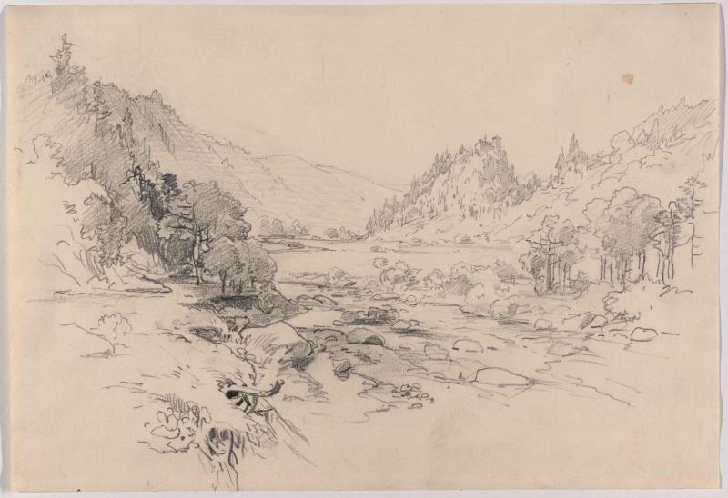 Ruine Lititz (Litice) an der Wilden Adler