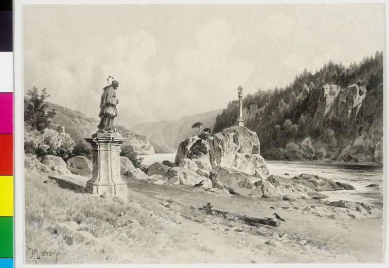 Stromschnellen der Moldau bei Stechowitz