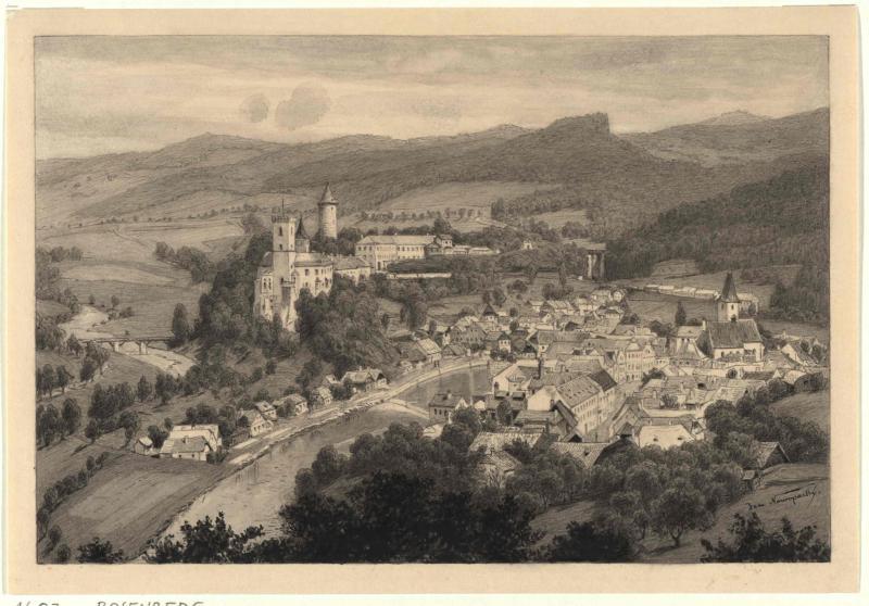 Stadt und Burg Rosenberg
