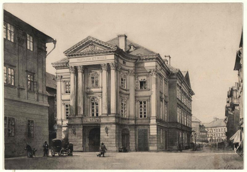Das alte königliche Landestheater in Prag