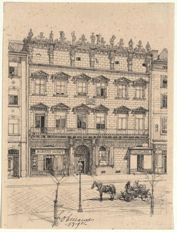 Das Sobieski-Haus am Ringplatz in Lemberg
