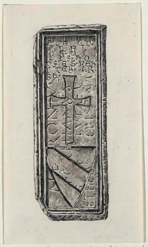 Der Grabstein des Ulrich von Liechtenstein in der Jakobskirche auf der Frauenburg
