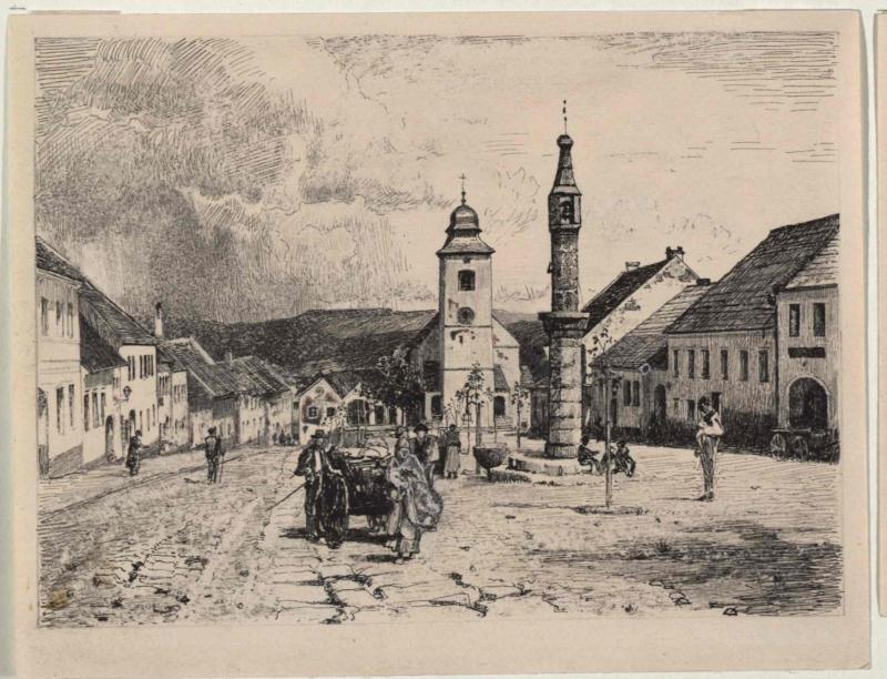 Platz mit Kirche im Markt Höritz