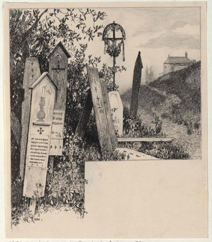Totenbretter aus der Gemeinde Deschenitz bei Neuern