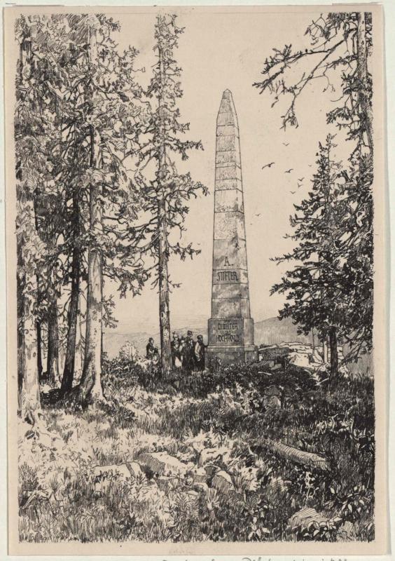 Das Stifter-Denkmal im Böhmerwald