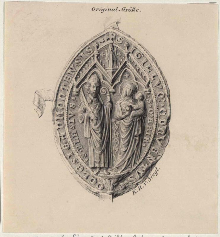 Konventsiegel des Stiftes Admont aud dem 14. Jahrhundert