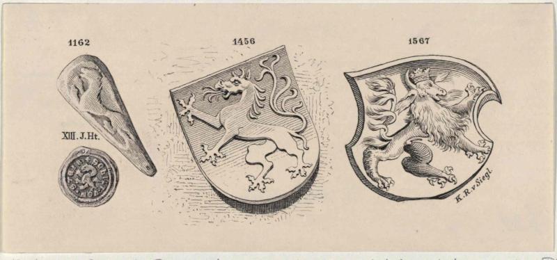 Der 'Steirische Panther' - aus verschiedenen Jahrhunderten und ein Pfenning aus dem 13. Jahrhundert mit deutscher Umschrift