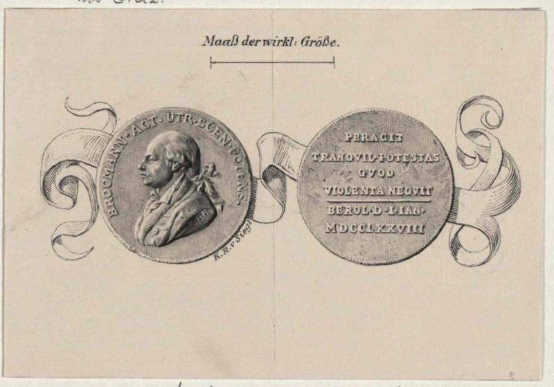 Medaille auf den dramatischen Künstler Johann Franz Hieronymus Brockmann