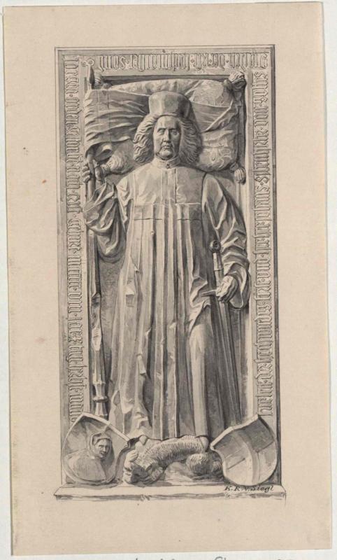 Grabdenkmal des Johann Siebenhirter in Stiftskirche Millstatt