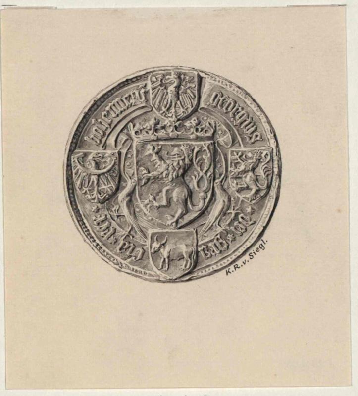 Staatsiegel des König Georg von Podiebrad