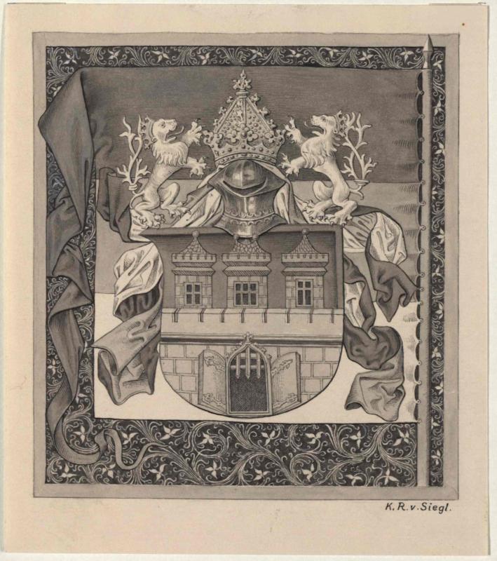Wappen der Altstadt Prag von Jahre 1475