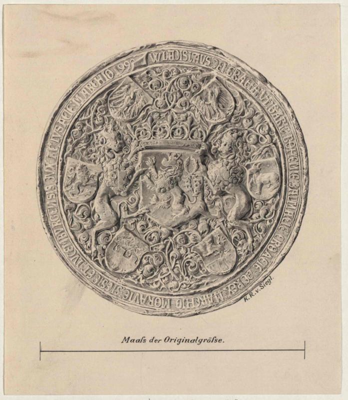Siegel König Wladislaw II. von Ungarn (König Wladislaw V. von Böhmen) von 1513