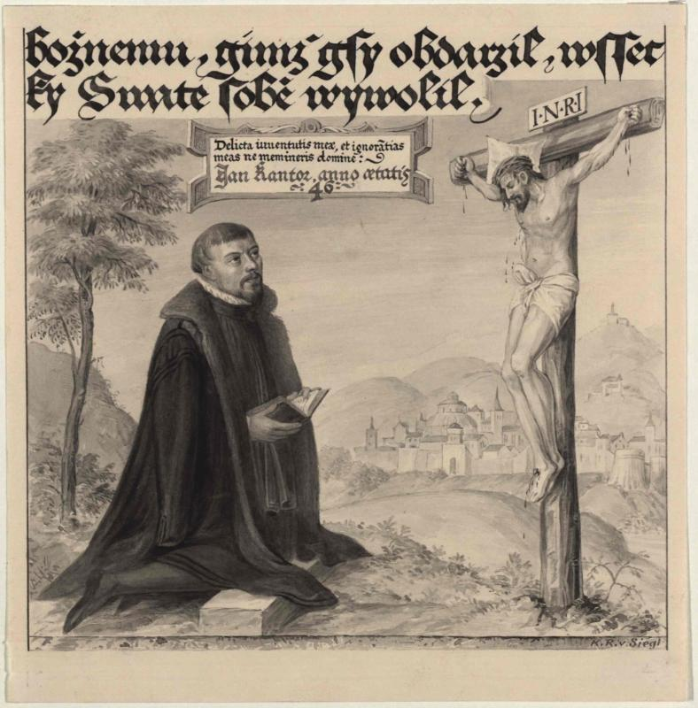 Bildnis des Jan Kantor, aus dem böhmischen Canzionale von Jungbunzlau, 1572