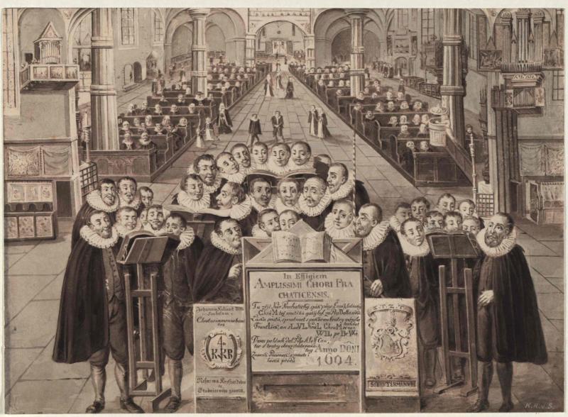 Der Literatenchor (Kirchsängerchor) in Prachatitz