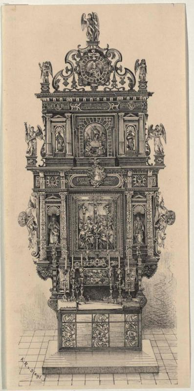 Altar in der Clam-Gallas-Kapelle in Reichenberg von 1606