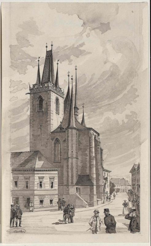 Die Nikolauskirche in Laun
