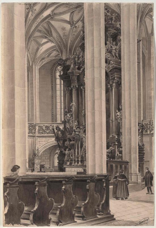 Aus der Dekanalkirche in Brüx