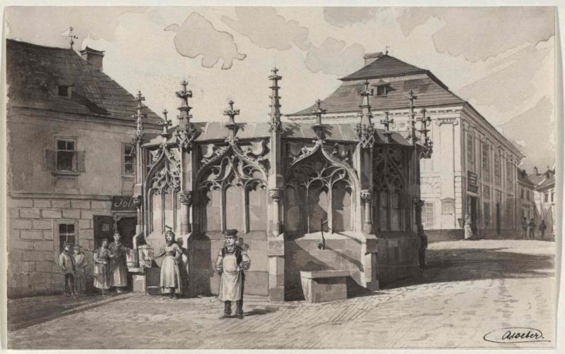 Der gotische Brunnen in Kuttenberg