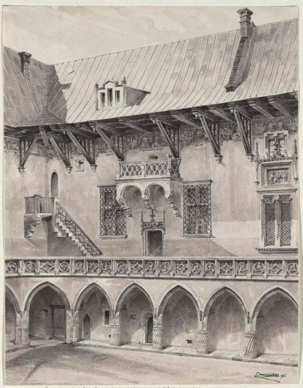 Innenhof der Jagiellonische Bibliothek in Krakau