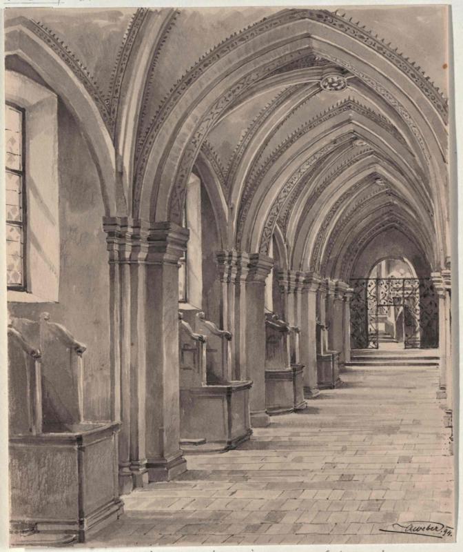 Seitenschiff der Zisterzienserkirche in Mogila bei Krakau