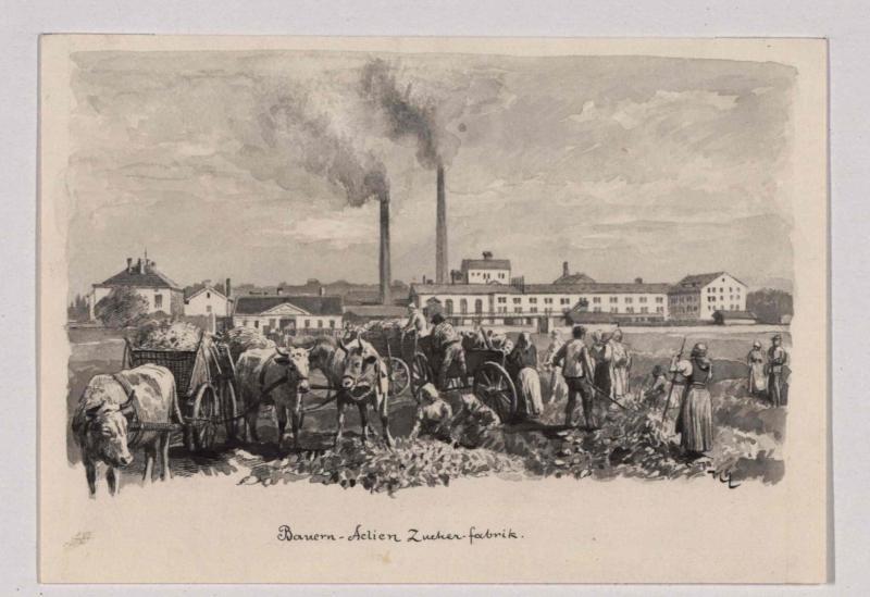 Bauern-Actien-Zuckerfabrik in Chrudim