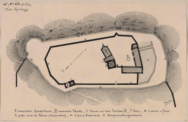 Burg Hainburg - Grundriss
