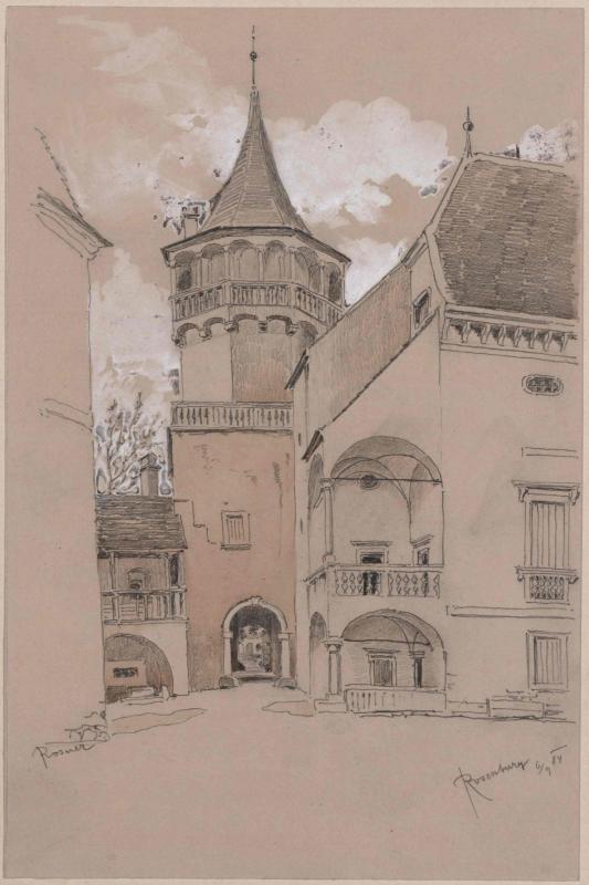Schloss Rosenburg - vorderer Burghof