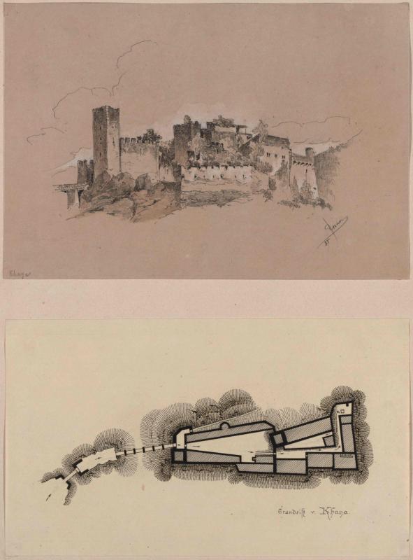 Burg Kaja in Niederösterreich und Grundriss