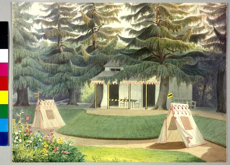 Zelte im Garten von Schloß Schönbrunn