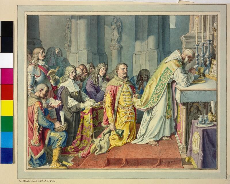 Marco d'Aviano feiert vor der Entsatzschlacht um Wien 1683 die Heilige Messe