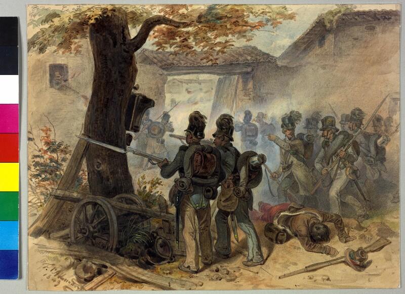 Einnahme von Pregasina, am 16.6.1848