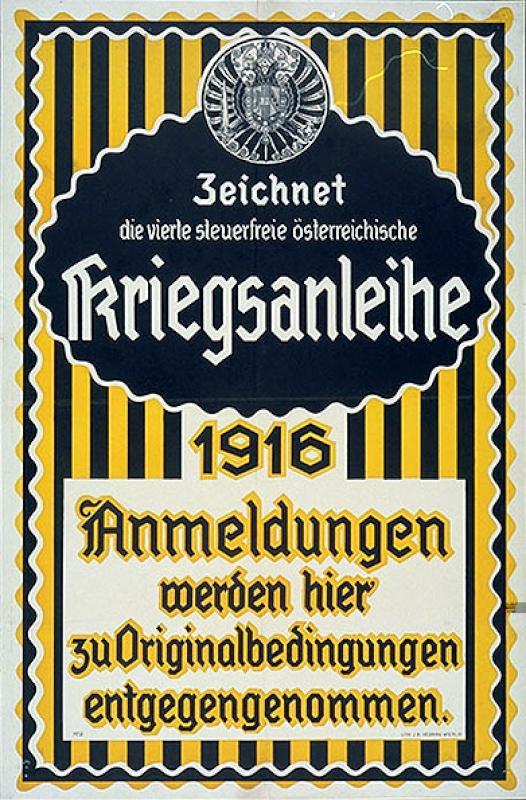 Zeichnet die vierte steuerfreie österreichische Kriegsanleihe/1916