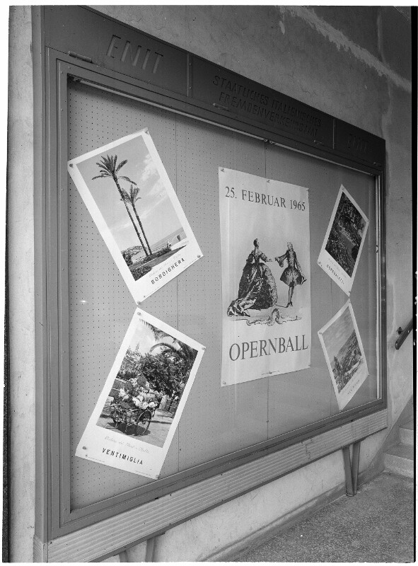 Plakat für den Wiener Opernball 1965