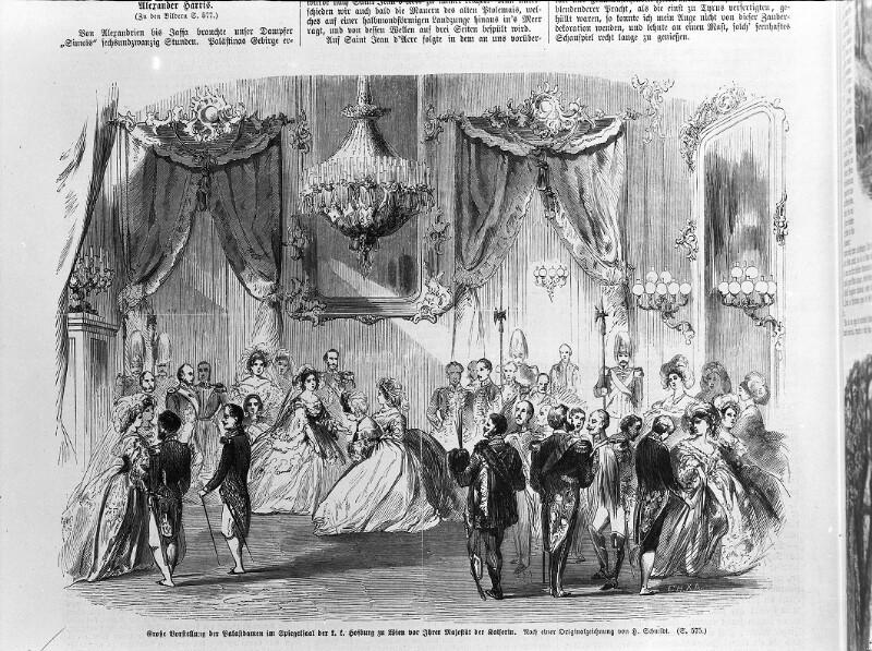 Große Vorstellung der Palastdamen vor Kaiserin Elisabeth