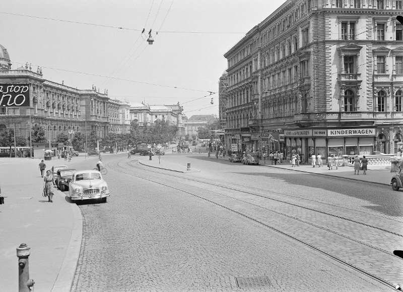 Wien 1 bzw. 6, Babenbergerstraße und Mariahilferstraße 1a