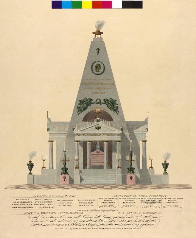 Wien 1, Katafalk in der Minoritenkirche für Franz II.