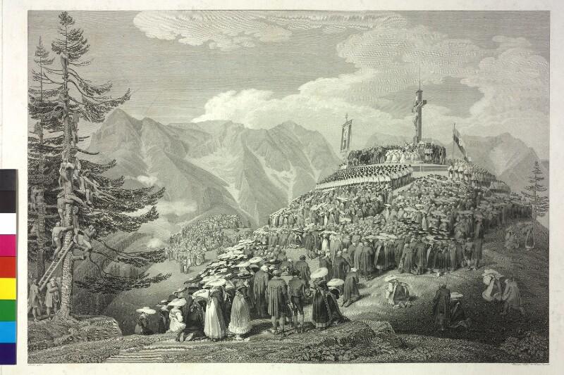 Einweihung des von Erzherzog Johann gestifteten Kreuzes am Erzberg