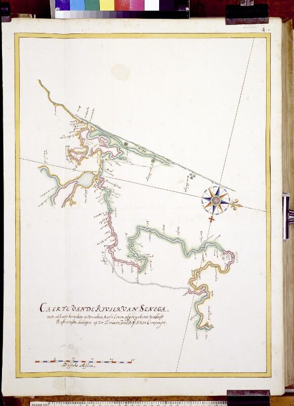 Landkarte der Senegalmündung