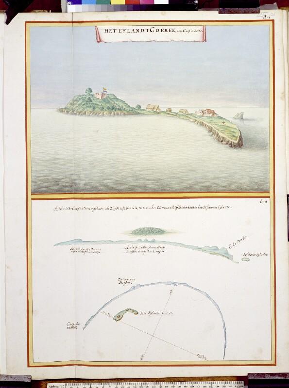 Die Insel Gorée und Küstenprofile von Gorée und Cape Verde (Grünes Kap)