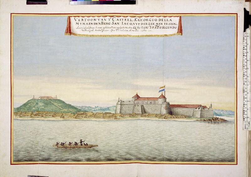 Blick vom Meer auf Elmina
