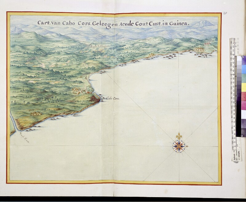 Cape Coast und Fort Nassau aus der Vogelperspektive
