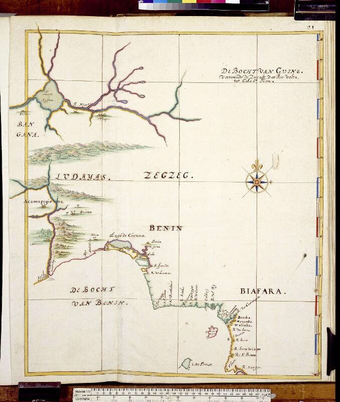 Landkarte der westafrikanischen Küste