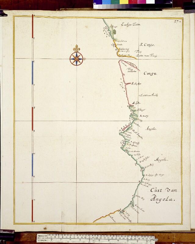 Landkarte der angolischen Küste