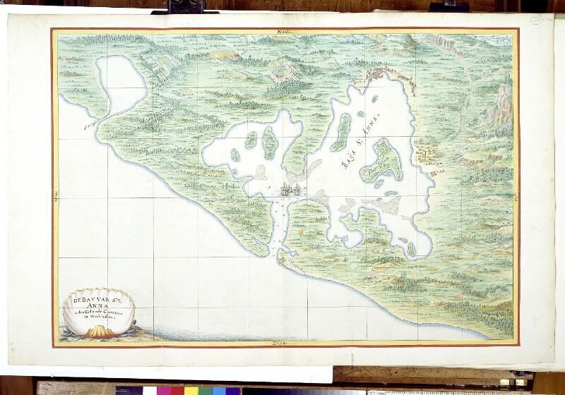 Landkarte der Santa Anna Bay bei Curaçao