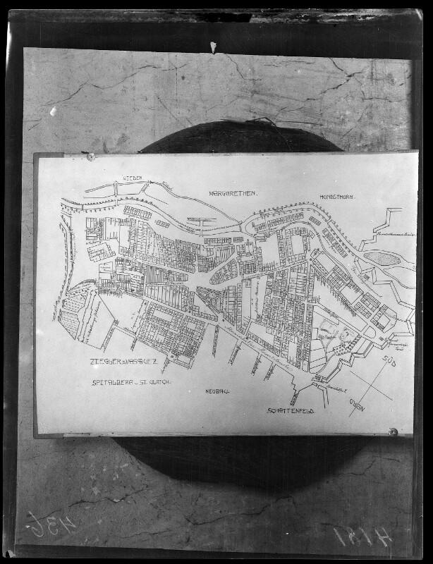 Plan von Mariahilf um 1827