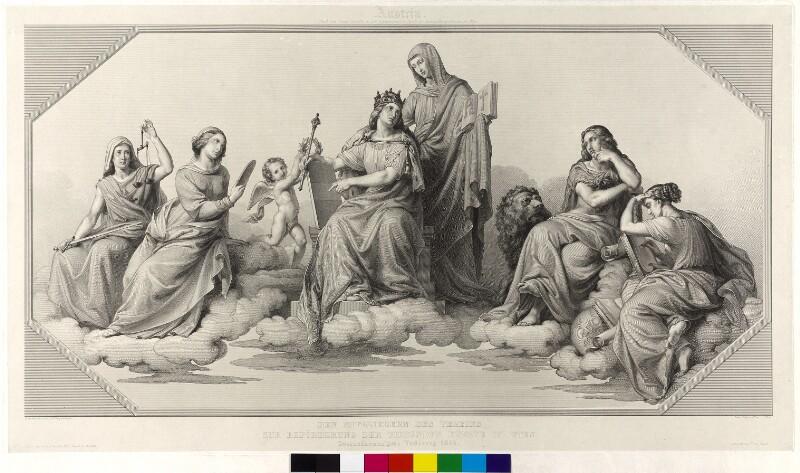 """Allegorie der """"Austria"""" und der """"Religion"""""""