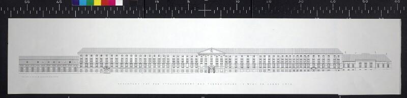 Gesamtansicht der Strassenfront des Theresianums in Wien im Jahre 1970
