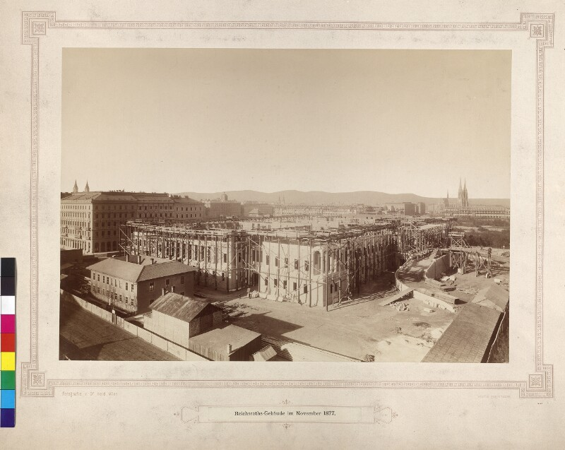 """""""Reichsraths-Gebäude im November 1877"""""""