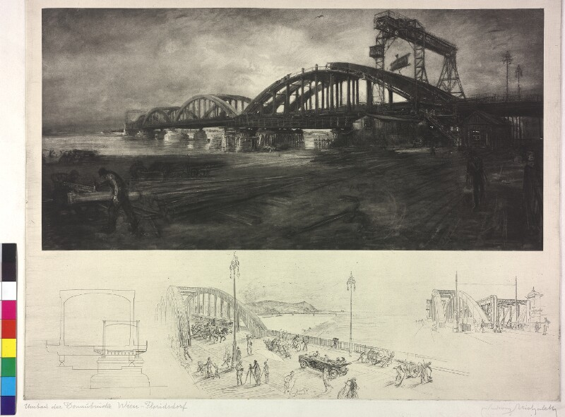 Wien, Bau der Floridsdorfer Brücke